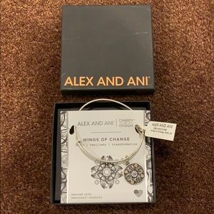 """Alex and Ani """"Wings of Change"""" Silver Bangle"""